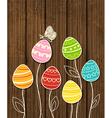 dark wood eggs vector image vector image