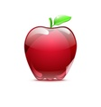Big red apple from glass vector image vector image