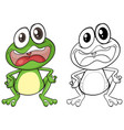 animal outline for frog vector image vector image