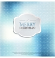 Christmas card with label on color background vector image