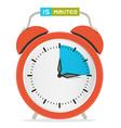 15 - Fifteen Minutes Stop Watch - Alarm Clock vector image