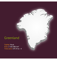 3d map of Greenland vector image