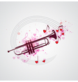 Music background with trumpet vector image vector image