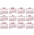 2012 calendar vector image