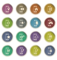 Smartphone simply icons vector image
