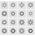 line sun icon set vector image vector image