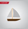 isolated vessel flat icon yacht elemen vector image