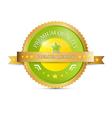 Premium Quality Green Gold Label vector image