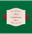 realistic festive merry christmas tag vector image