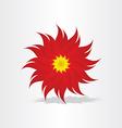 red flower decoration design vector image