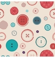 retro seamless pattern Bright colors buttons on vector image