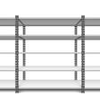 storage shelves vector image