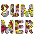 word summer painted colorful vector image vector image