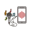 music and technology design vector image