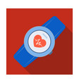 sports wrist watch with heart rate measurement vector image
