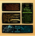 set of doodles merry christmas banners vector image