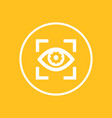 eye with gear icon in circle vector image