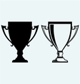 Award trophies vector image
