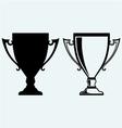 Award trophies vector image vector image