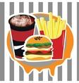 Beautiful set of fast food advertising menu vector image vector image