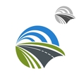 Icon of speedy road disappearing into the distance vector image