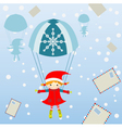 christmas letters vector image vector image