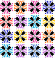 Vibrant colored seamless floral pattern vector image vector image