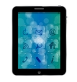 Abstract Tablet pc with icons vector image