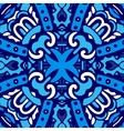 Blue and white tile design vector image