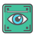 eye scan colorful line icon iris scanner vector image