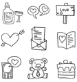 love doodles collection vector image