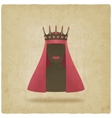 Queen in red veil old background vector image