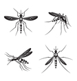 set of mosquito vector image