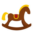 toy horse icon isolated vector image