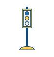 traffic light semaphore vector image