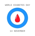 World diabetes day Drop of blood Flat icon vector image