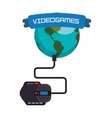 videogames world online connection mouse system vector image