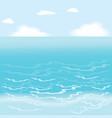 Sea wallpaper vector image