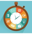 flat concept - time management vector image vector image