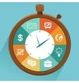 flat concept - time management vector image