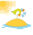 bird in island vector illustration vector image vector image