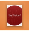 Chistmas paper hanging red Page with Snowflakes vector image
