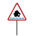 Flood Alert Warning vector image vector image