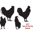 Black Rooster four positions vector image