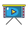business presentation screen video technology vector image