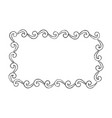 curly doodle framework with curved borders vector image