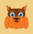 flat icons on theme funny animals bulldog vector image