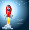 Rocket icon space fire symbol flame cartoon vector image
