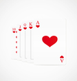 royal straight flush hearts vector image