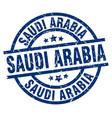saudi arabia blue round grunge stamp vector image